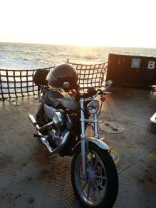 On a ferry in North Carolina