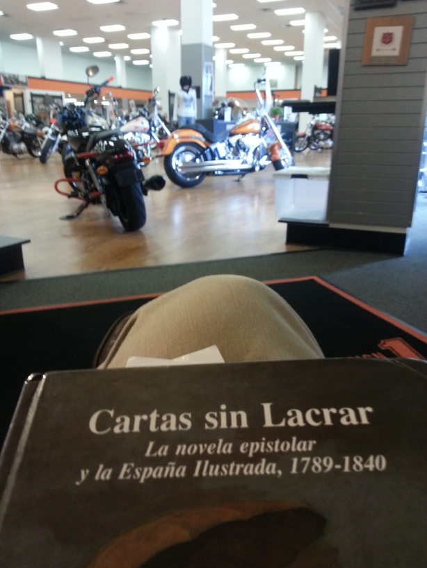 Cartas sin lacrar waiting for Rocinante's check up