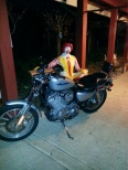 Ronald about to go on a ride!