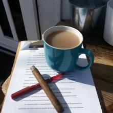 w strong tea after breakfast