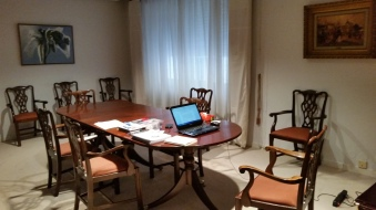 """My """"office"""" in the dining room"""