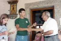 Antonio Balsón Sr. giving me his medal