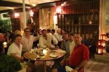 Bentley Boys dinner in an old Greek town