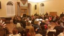 The Baroque Ensemble in Person Hall, UNC's first chapel!