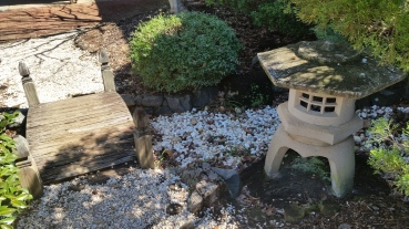 The Japanese Zen garden at Charlotte Latin School