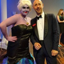 Hanging out with Ursula at the Gala (Glad I didn't have to dress up this year)