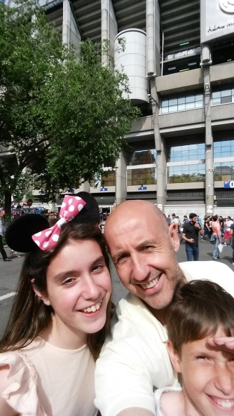 Taking the kids to Bernabeu stadium for their first time