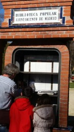 """Free libraries"" to drop off and pick up books!"