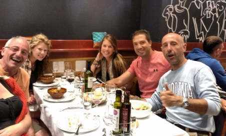 Farewell dinner for Manolo in Burgos with Jose Antonio and the Texan ladies