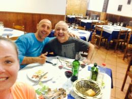 A great dinner in Nájera with Manolo and Krisztina