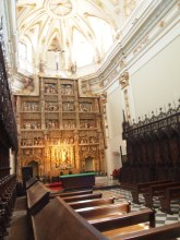 The church with a fantastic Gothic altarpiece