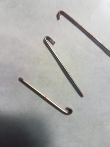 Pins used in my hand