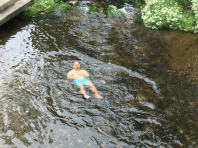 A few quick dips in an ice cold stream