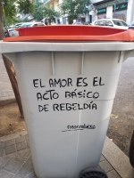 In Madrid even the trash has art
