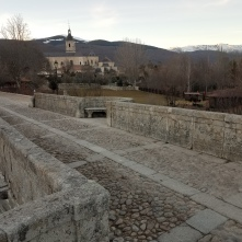 Medieval bridge outside the monastery
