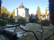 The cloister in the chilly morning