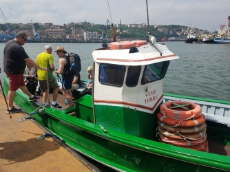 """One of the many ferries that cross the """"rias"""""""