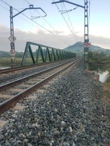 A dark spot on the Camino, crossing this RR bridge