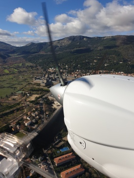 Private plane tours? Check (Over El Escorial)