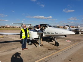 Our plane with our super pilot!!