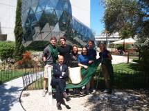 Guiding students around the Dalí museum in Florida!!