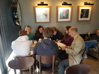 Coffee with students (and books!)
