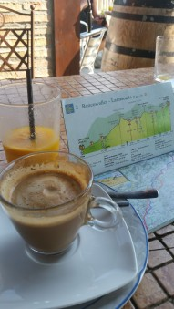 Coffee during the Camino