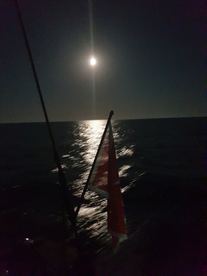 Full moon during night watch