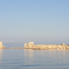 The fortress and tower at Methoni