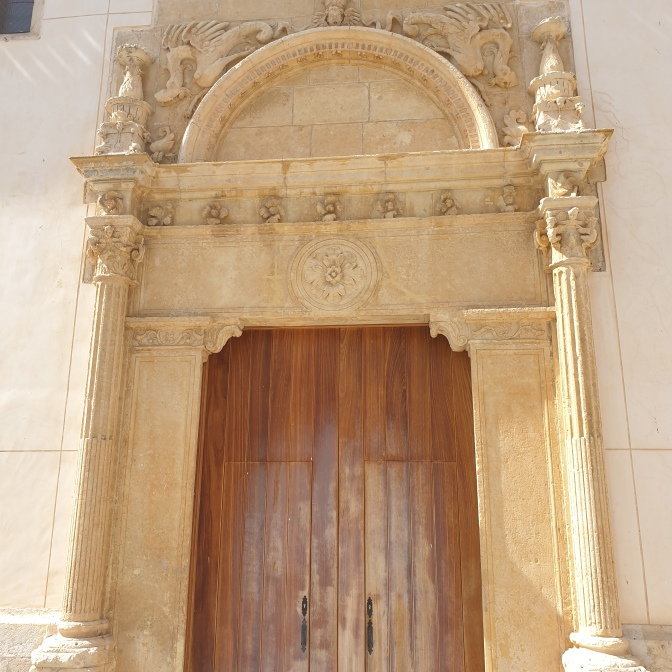 Plateresco doorway at Lozoya church