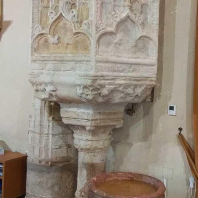Restored Gothic pulpit